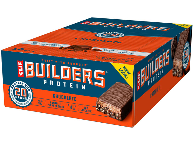 CLIF Bar Builder's Proteïne Repen Box 12x68g, Chocolate